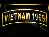 FREE Vietnam 1969 LED Sign - Yellow - TheLedHeroes