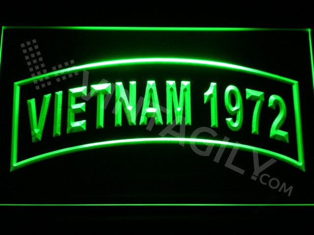 FREE Vietnam 1972 LED Sign - Green - TheLedHeroes