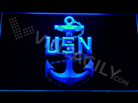 US Navy LED Sign - Blue - TheLedHeroes