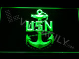 FREE US Navy LED Sign - Green - TheLedHeroes