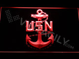 FREE US Navy LED Sign - Red - TheLedHeroes