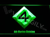 4th Marine Division LED Neon Sign USB - Green - TheLedHeroes