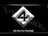 4th Marine Division LED Neon Sign USB - White - TheLedHeroes