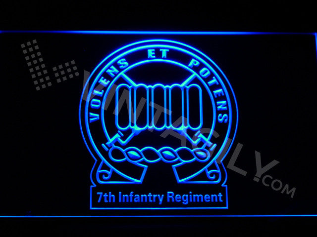 7th Infantry Regiment LED Sign