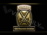 10th Mountain Division LED Neon Sign Electrical - Yellow - TheLedHeroes