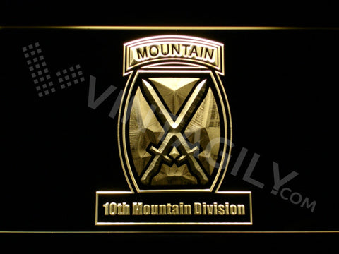 10th Mountain Division LED Sign