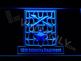 16th Infantry Regiment LED Neon Sign Electrical - Blue - TheLedHeroes