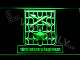 16th Infantry Regiment LED Neon Sign USB - Green - TheLedHeroes