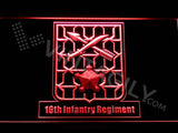 16th Infantry Regiment LED Neon Sign USB - Red - TheLedHeroes