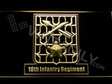 16th Infantry Regiment LED Neon Sign USB - Yellow - TheLedHeroes