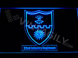 22nd Infantry Regiment LED Sign - Blue - TheLedHeroes