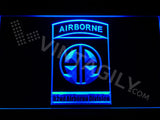 FREE 82nd Airborne Division LED Sign - Blue - TheLedHeroes