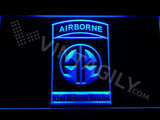 82nd Airborne Division LED Neon Sign USB - Blue - TheLedHeroes