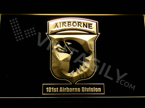 FREE 101st Airborne Division LED Sign - Yellow - TheLedHeroes