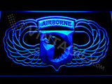 101st Airborne Division Wings LED Sign - Blue - TheLedHeroes
