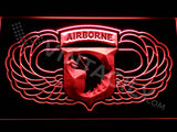 101st Airborne Division Wings LED Sign - Red - TheLedHeroes