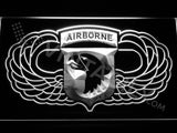 101st Airborne Division Wings LED Sign - White - TheLedHeroes
