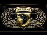 FREE 101st Airborne Division Wings LED Sign - Yellow - TheLedHeroes