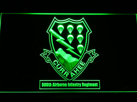 506th Airborne Infantry Regiment LED Sign - Green - TheLedHeroes