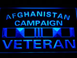 Afghanistan Campaign Veteran Ribbonl LED Sign - Blue - TheLedHeroes