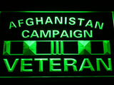 Afghanistan Campaign Veteran Ribbonl LED Sign - Green - TheLedHeroes