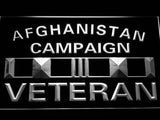 Afghanistan Campaign Veteran Ribbonl LED Sign - White - TheLedHeroes