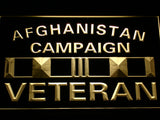 Afghanistan Campaign Veteran Ribbonl LED Sign - Multicolor - TheLedHeroes
