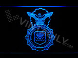 FREE US Department of the Air Force LED Sign - Blue - TheLedHeroes