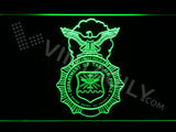 FREE US Department of the Air Force LED Sign - Green - TheLedHeroes