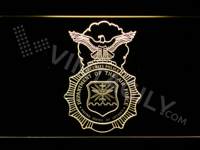 US Department of the Air Force LED Sign - Yellow - TheLedHeroes