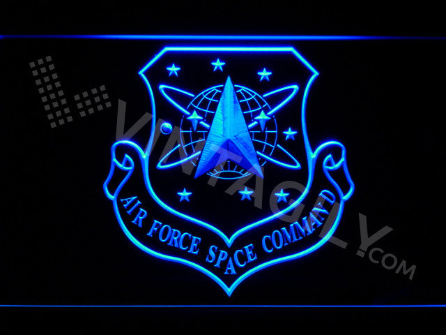 FREE Air Force Space Command LED Sign - Blue - TheLedHeroes