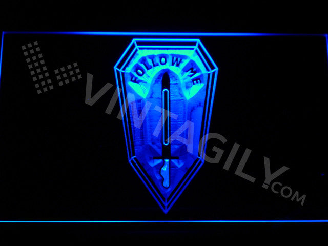 US Army Infantry School LED Sign - Blue - TheLedHeroes