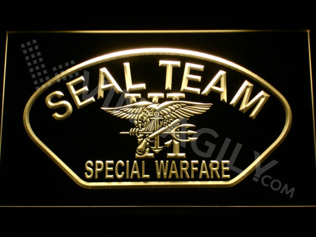 FREE SEAL Team Six 4 LED Sign - Yellow - TheLedHeroes