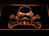 Star Wars Stormtrooper helmet LED Sign - Orange - TheLedHeroes