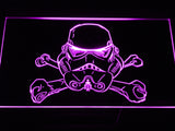 Star Wars Stormtrooper helmet LED Sign - Purple - TheLedHeroes