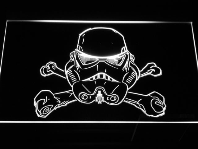 Star Wars Stormtrooper helmet LED Sign - White - TheLedHeroes