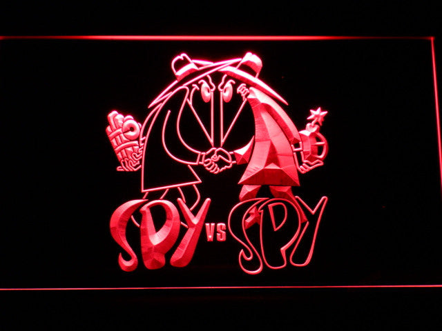 Spy Vs Spy Cartoon LED Sign - Red - TheLedHeroes