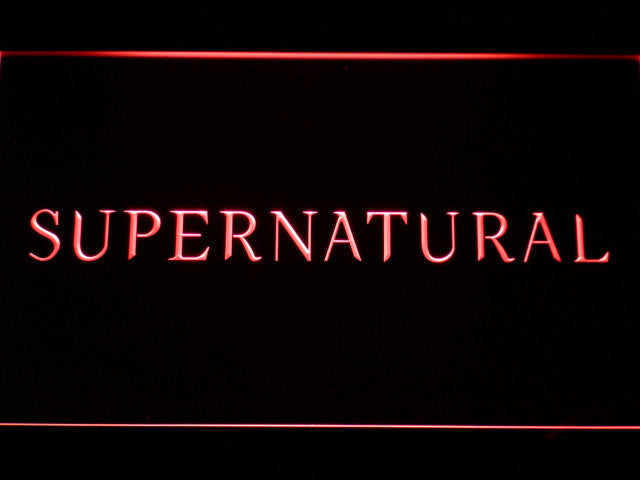 Supernatural LED Sign - Red - TheLedHeroes