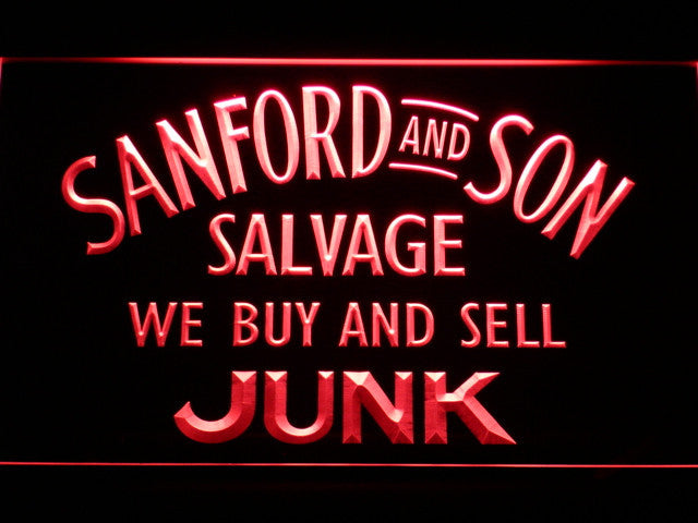 Sanford and Son Salvage Buy Sell Junk LED Sign - Red - TheLedHeroes