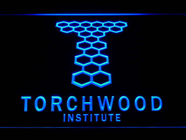 Torchwood Institute LED Sign - Blue - TheLedHeroes