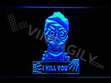Achmed - Silence, I kill you LED Sign - Blue - TheLedHeroes