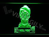 Achmed - Silence, I kill you LED Sign - Green - TheLedHeroes