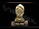 Achmed - Silence, I kill you LED Sign - Yellow - TheLedHeroes