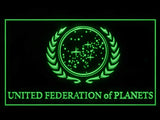FREE Star Trek United Federation of Planets LED Sign - Green - TheLedHeroes