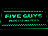 Five Guys LED Neon Sign USB - White - TheLedHeroes