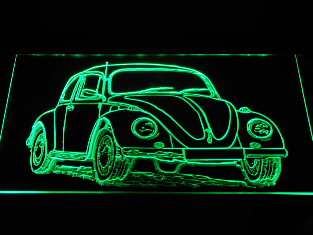 FREE Volkswagen Beetle LED Sign - Green - TheLedHeroes