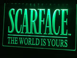 Scarface The World is Yours LED Neon Sign USB - Green - TheLedHeroes