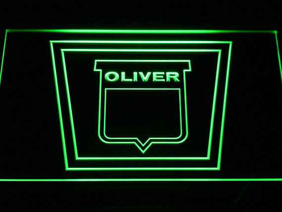 Oliver Tractor LED Sign - Green - TheLedHeroes