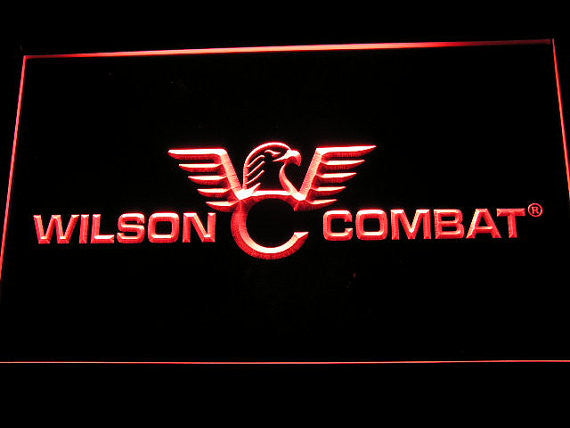 Wilson Combat Firearms Gun Logo LED Sign