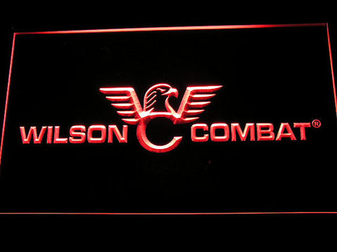 Wilson Combat Firearms Gun Logo LED Neon Sign